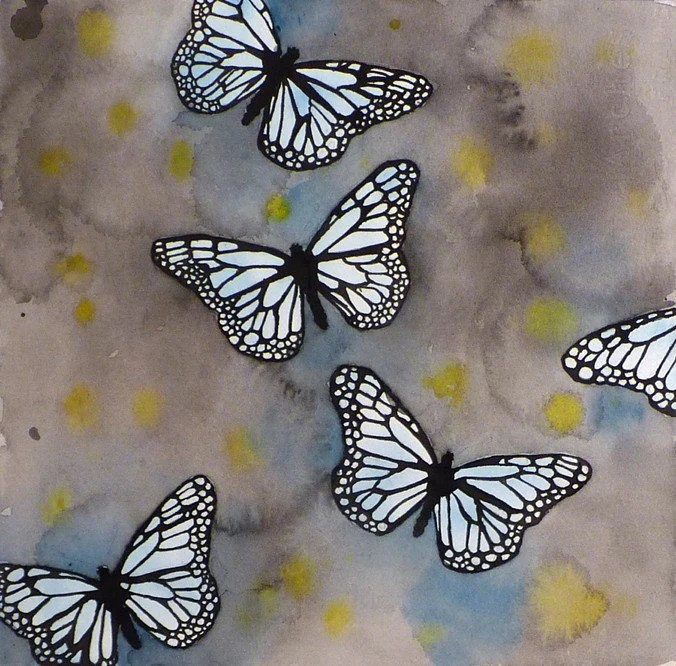 Butterfly Art Print Blue Monarch