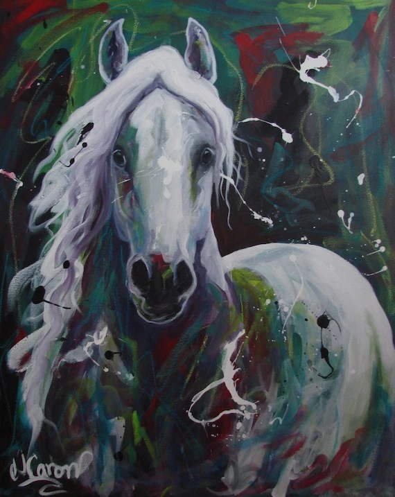 Horse original acrylic painting on canva