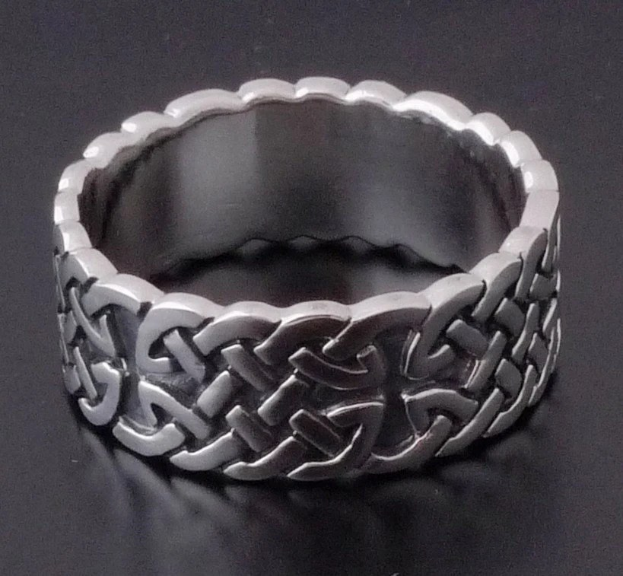 sterling 925 silver celtic design cross biker ring us sz 10