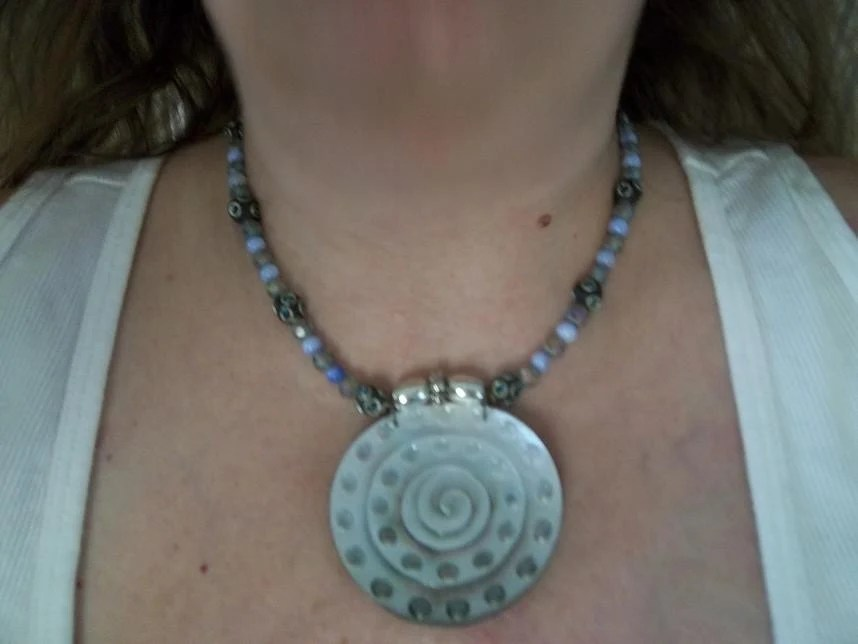 Circle Challenge Necklace - OOAK