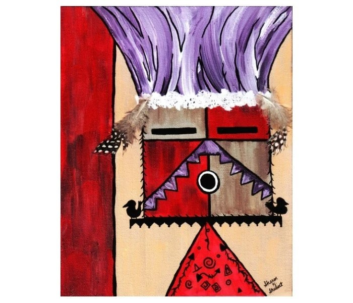 Kachina Native American Painting Print 8 x 10