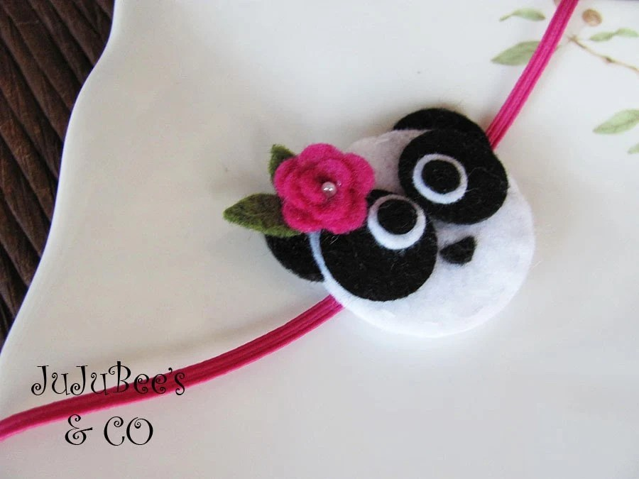PandaMonium  Felt Panda Headband Photography Props Gifts Newborns Infants Teens Adults