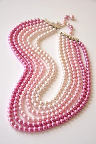 Beautiful Pink 6-Strand Necklace