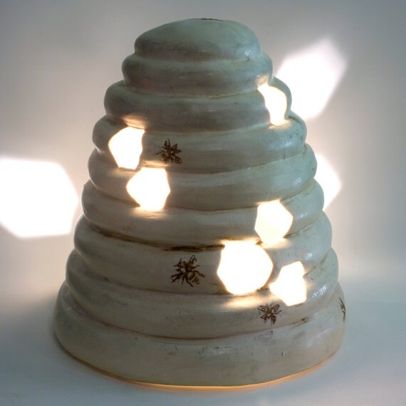 Ceramic Beehive Candle Holder, Lantern