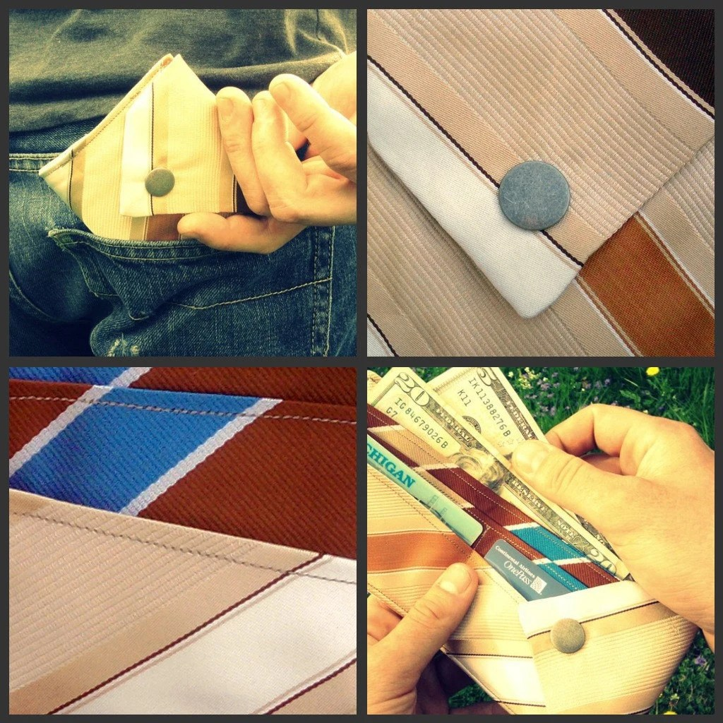 Eco-friendly Billfold Wallet from Upcycled Neckties
