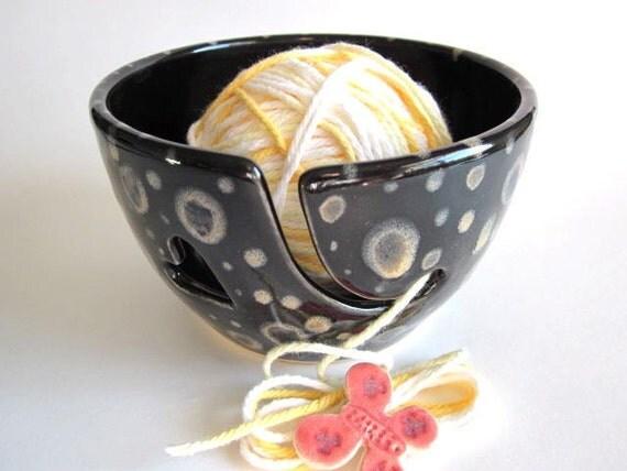 Yarn bowl  handmade stoneware pottery