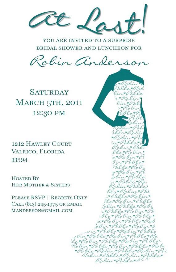 Bridal Shower Invitation - Printable