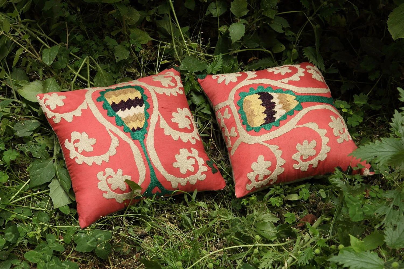 vintage suzani pillowcase in pairs - FREE SHIPMENT - 114