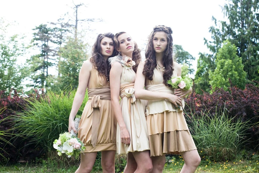 Convertible Bridesmaid Dresses-The Chameleon Collection- mix and match styles for your Bridal Party-
