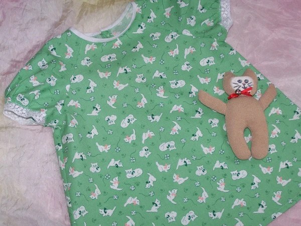 Vintage Inspired Green Dress size 6-12 months