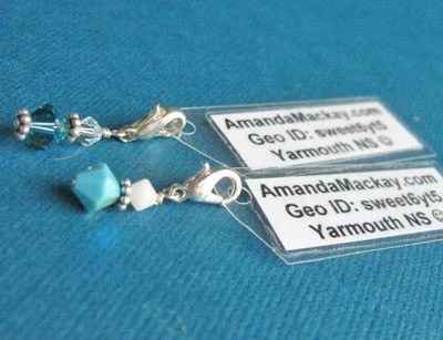 10 Swarovski Crystal Geocaching Charms - Trackable Cache Custom Charms
