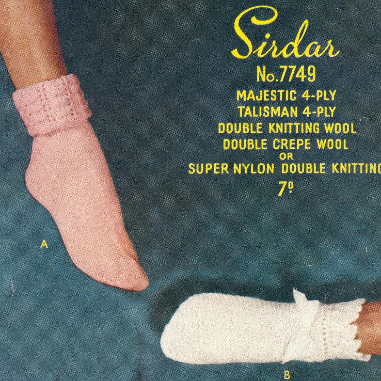 Vintage Knit Crochet Pattern PDF 076 Retro Boudoir Glamour from WonkyZebra