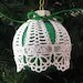 Green Peace, Love, Joy Lace Ornament