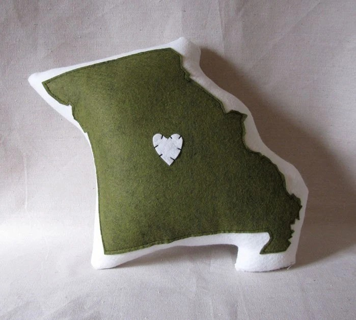 Missouri Pillow by lovecalifornia