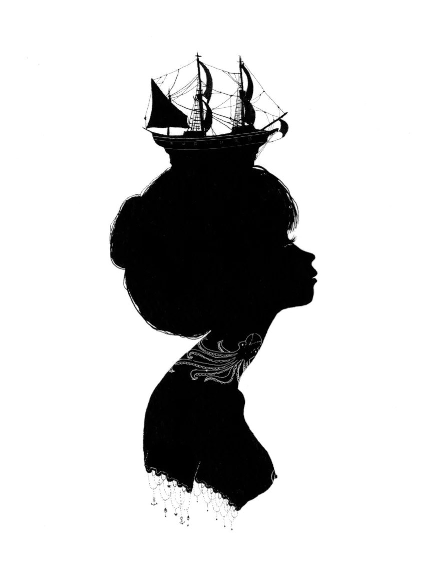 Boat Hat Silhouette