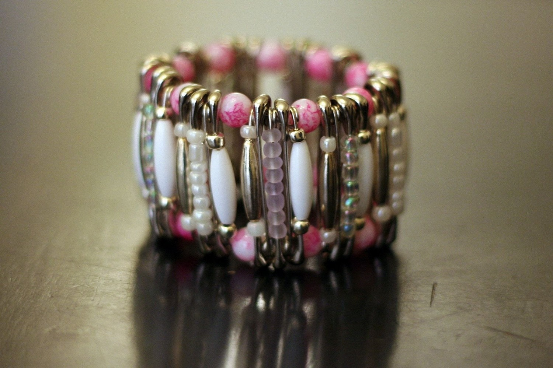 pink pin bracelet