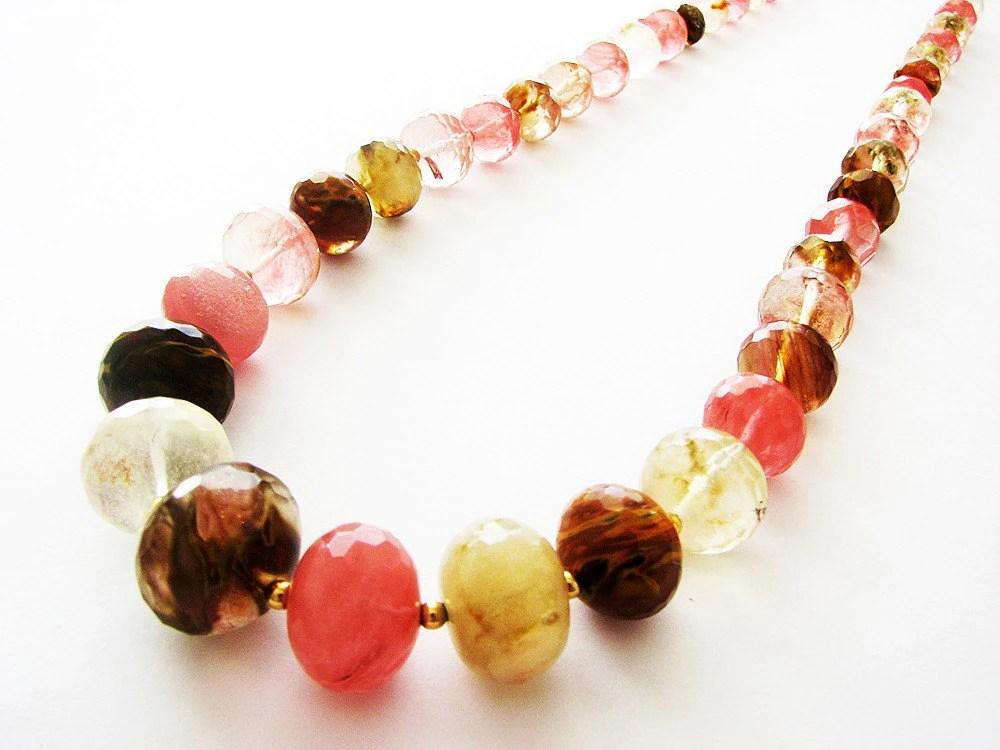 Volcano Cherry Quartz Necklace