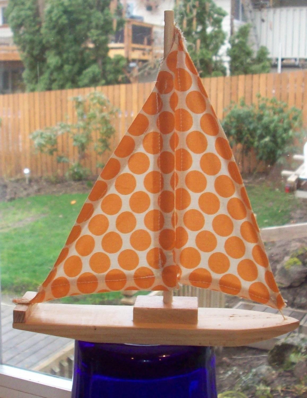 willowbaus Dotty Wooden Sailboat