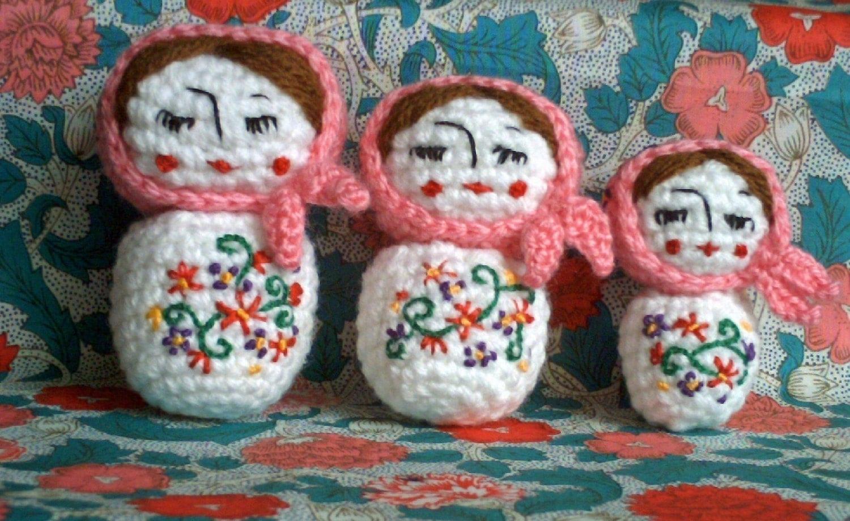 amigurumi little russian doll crochet pattern