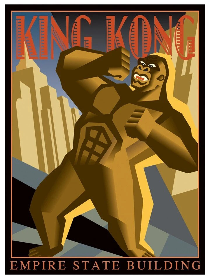 Empire State Building Art Deco Poster pictures