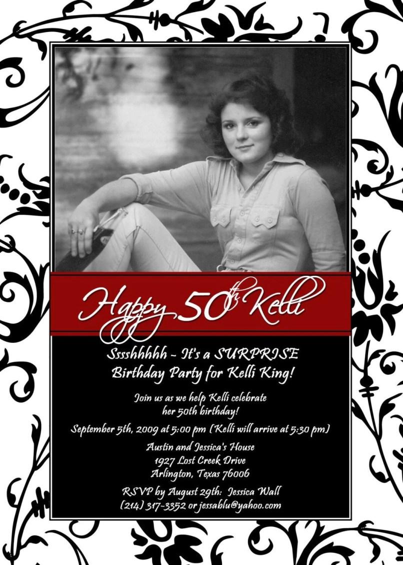 Amazing 50th Surprise Birthday Invitations Photos - Invitations ...