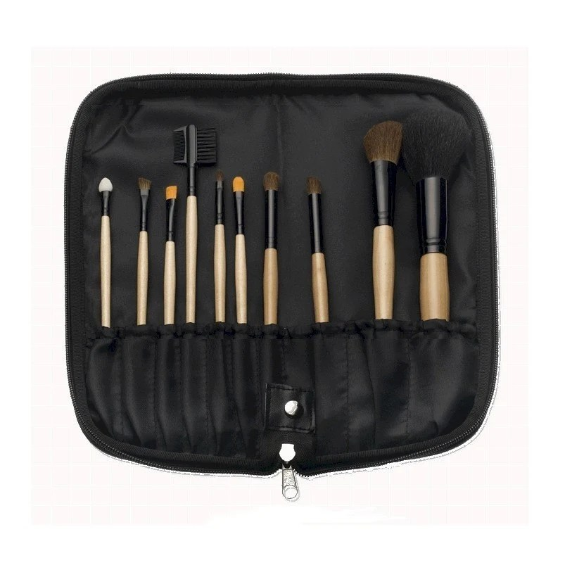 10 Piece Natural Wood Brush Set