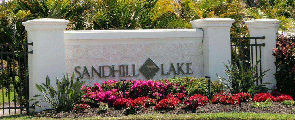 sandhill lake sign