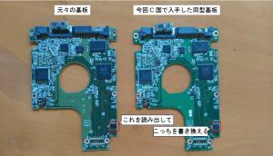 某W社のポータブルHDD基板