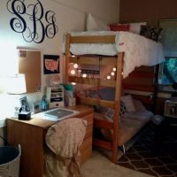34 The Nuiances Of Dorm Room Ideas Lofted Bed Desk 264