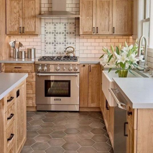 36 The Natural Wood Kitchen Cabinets Farmhouse Trap Nyamanhome