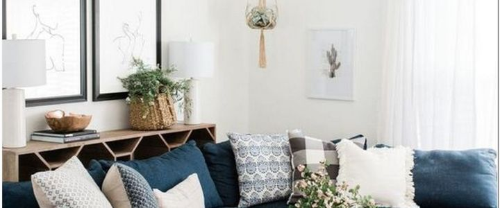69+ Your Living Room: Pairing Pink and Navy Sofas With Dull Colors