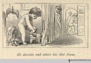 """He disrobes and enters the Hot Room."" In Shepard, The Turkish Bath, 1873."