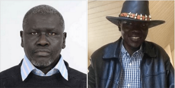 Kidnapped and detained to be deported South Sudan human rights activists and members of South Sudan armed opposition who are living in exile in Kenya, Dong Samuel Luak and Aggrey Idri(Photo: file)