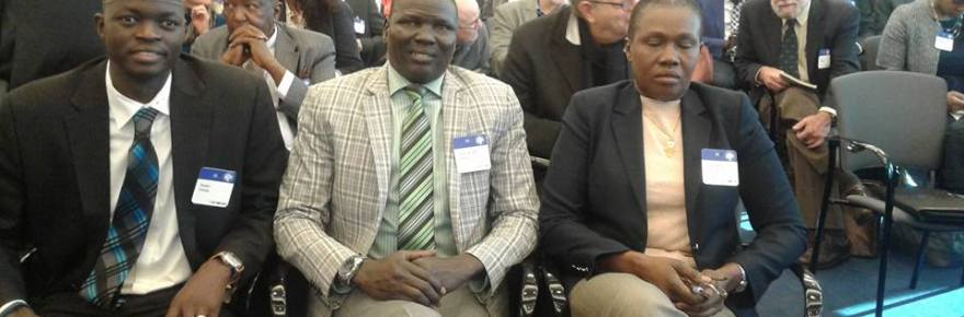 SPLM/SPLA(IO) delegation to Washington, Madam Angelina Teny, Hon. Reath Muoch Tang and Dr. Isaac Gang at the U.S. Peace Institute, in Washington D.C, attending a briefing by US Envoy to Sudan and South Sudan, Donald Booth Jan 18, 2017(Photo credits: SPLM/SPLA-IO)