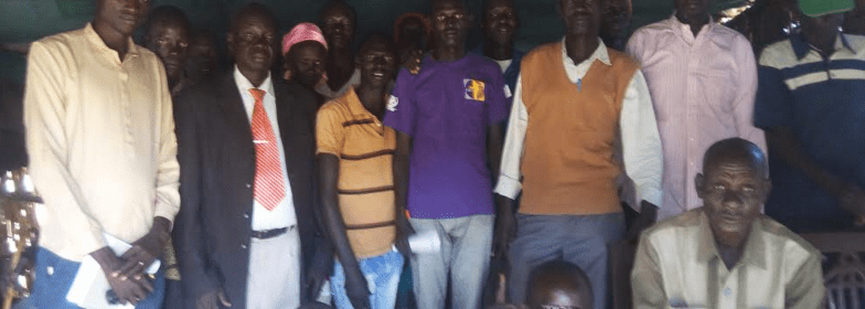 Members of Lou Nuer committee in Bentiu, Unity State, condemning atrocities back home in Lou-Nuer(Photo: supplied)