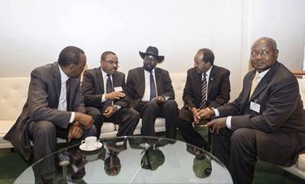 IGAD leaders meeting in Ethiopia, Addis Ababa to bring peace to South Sudan.