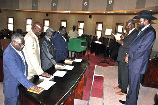 Swearing of judges in South Sudan by President Kiir.(Photo: file)