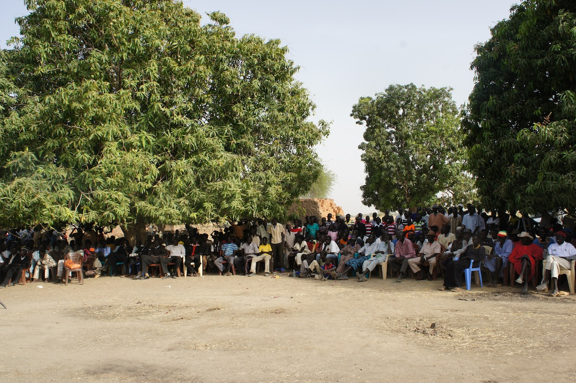 Elders of Aguok community during a meeting in Gokrial community(Photo credits: Zoe Carmack)