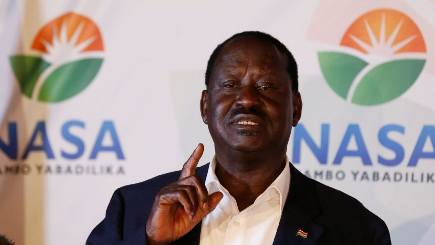 Kenyan opposition leader Raila Odinga, the presidential candidate of the National Super Alliance NASA(Photo: file)