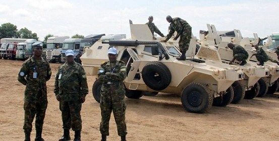 A batch of Rwandan forces arrive in Juba as part of the strong 4000 Regional Protection Force earlier this month, Aug 2017(Photo: file)