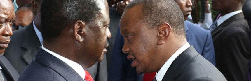 President Uhuru Kenyatta with Raila Odinga at a past event. (Photo: file | NMG)