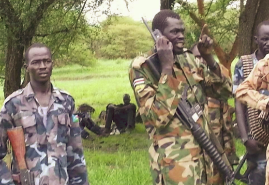 SPLA-IO governor of Bieh State, Brig. Gen. Koang Rambang Chol commanding his troops in Bieh State(Photo: file)