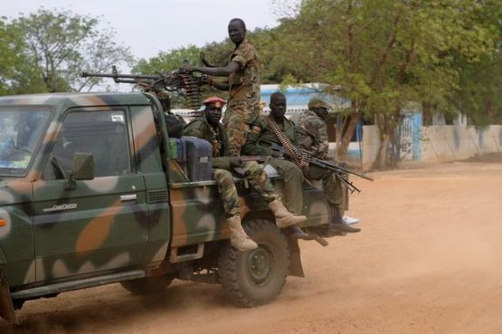 Members of Salva Kiir's SPLA army patrolling streets in South Sudan(Photo: file)