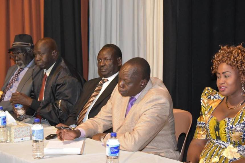Leaders of Lou Nuer community during the First Conference of Lou-Nuer community in Australia(Photo: Lou-Nuer)