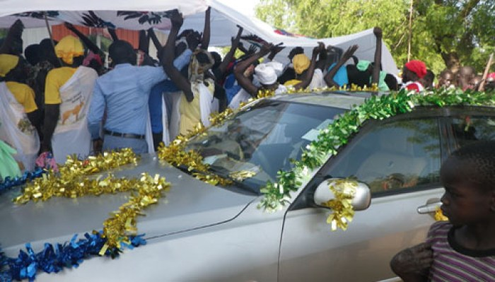 Members of Dinka community celebrating a wedding ceremony of couple from Dinka community(Photo: file)