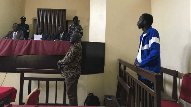 Dr. Machar's former spokesman, James Gatdet Dak, battling his case in a government courtroom in the capital, Juba(Photo: file)