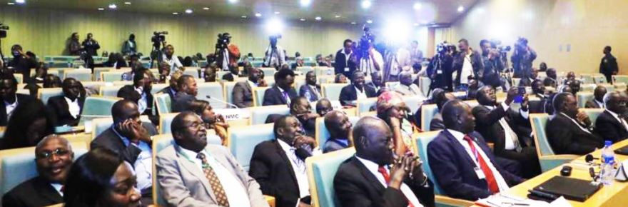 outh Sudan government delegates during the recent talks in Addis Ababa(Photo: file)