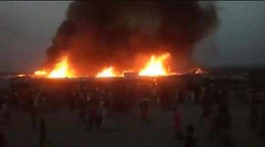 Wild fire as it guts Bentiu PoC Market (file photo)