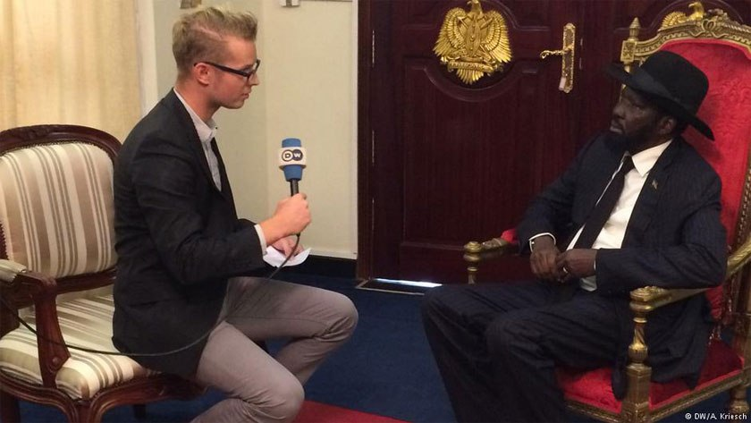 Salva Kiir during an interview with DW in Juba, South Sudan(Photo: file)