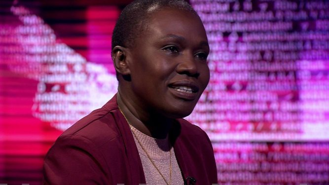 Wife of South Sudan opposition leader, Angelina Jany Teny in an interview with the BBC HARDtalk's Zeinab Badawi on 11 January 2017.